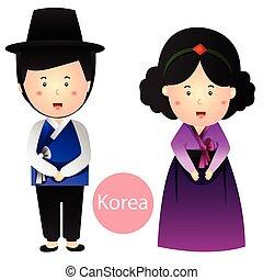 Illustrator of Korea Boy and Girl v