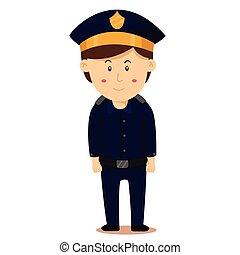 Illustrator of police man