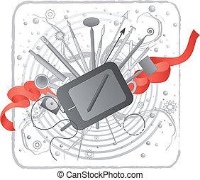 Illustrator/designer's creativity kit. - Vector illustration...