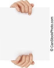 illustrazione affari, vettore, object., tenere mani