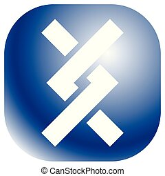 illustrazione, annodato, linee, ricoprendo, vettore, /, icon., intersecare