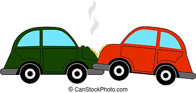 illustrazione, automobile, fondo., vettore, abbattersi, bianco