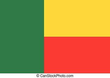 illustrazione, bandiera benin, vettore