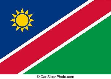 illustrazione, bandiera, namibia, vettore