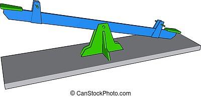 illustrazione, bianco, vettore, sedia, fondo., oscillante