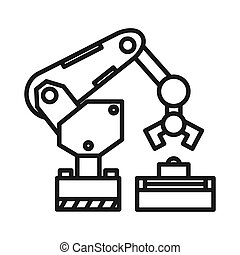 illustrazione, braccio, robotic, disegno