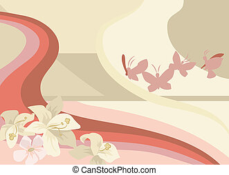 illustrazione, butterflys