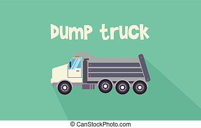 illustrazione, camion, discarica, collezione