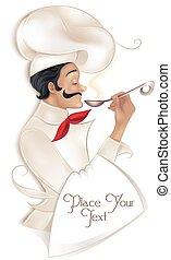 illustrazione, chef