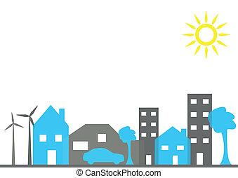 illustrazione, città