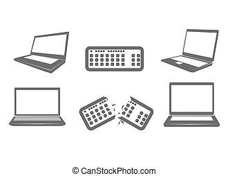 illustrazione computer, icone
