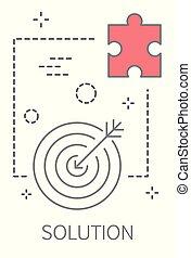 illustrazione, concetto, soluzione