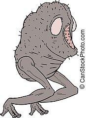 illustrazione, creatura, brutto