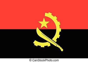 illustrazione, di, il, bandiera, di, angola