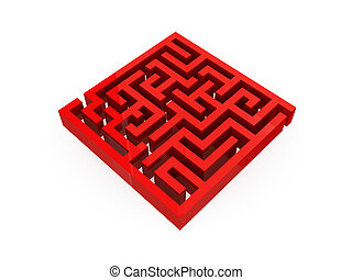 illustrazione, di, labirinto