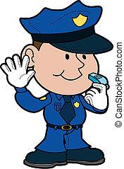 illustrazione, di, poliziotto