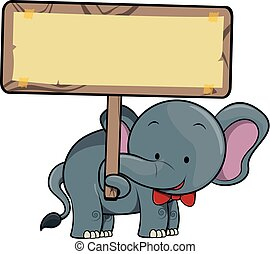 illustrazione, elefante