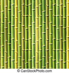 illustrazione, eps10., seamless, fondo., vettore, bambù