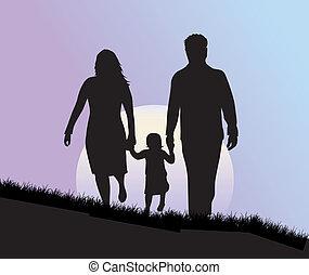 illustrazione, famiglia