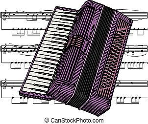 illustrazione, fisarmonica