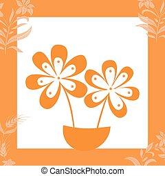 illustrazione, floreale, tob, vettore, fondo, fiore