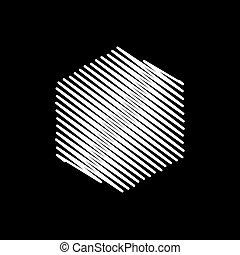 illustrazione, fondo, vettore, bianco, esagono, scarabocchio