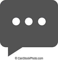 illustrazione, fondo., vettore, nero, chiacchierata, bianco, icona