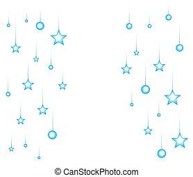 illustrazione, fondo., vettore, stelle, notte, cartone animato