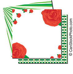 illustrazione, fondo., vettore, verde, floreale