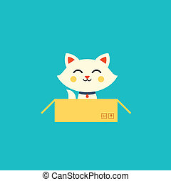 illustrazione, gatto