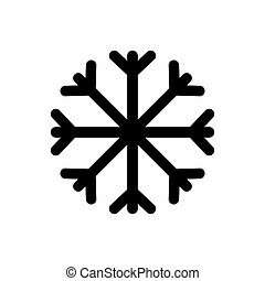 illustrazione, icona, scarabocchiare, vettore, fiocco di neve