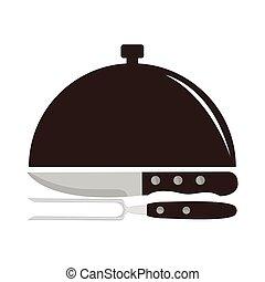 illustrazione, logotipo, ristorante