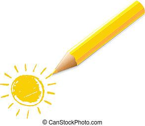 illustrazione matita, giallo