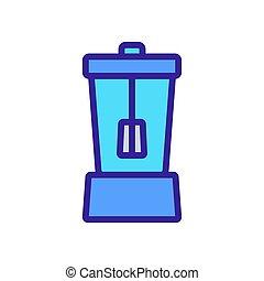 illustrazione, miscelazione, contorno, vettore, icona, ciotola, cocktail