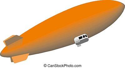illustrazione, navetta, eps10, vettore, spazio