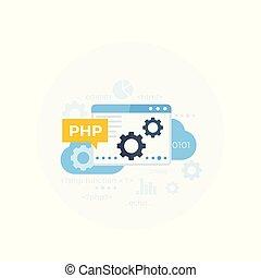 illustrazione, php, vettore, programmazione