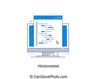illustrazione, programmazione, vettore