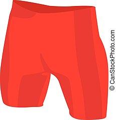 illustrazione, rosso, vettore, realistico, tronchi, isolato, nuoto