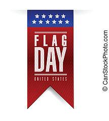illustrazione, segno, bandiera, disegno, bandiera, giorno