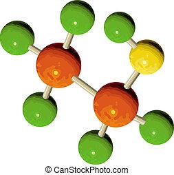 illustrazione, struttura, atomo