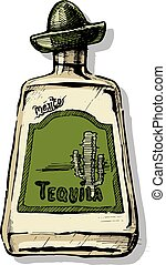 illustrazione, tequila