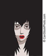 illustrazione, vampiro