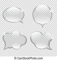 illustrazione, vetro, vettore, discorso, trasparenza, bolla