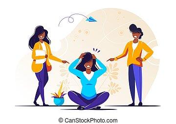illustrazione, vettore, problema, bullying