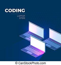 illustrazione, vettore, programmazione
