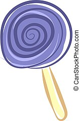 illustrazione, viola, fondo., vettore, lecca lecca, bianco