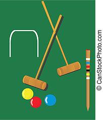 illustrazioni, croquet