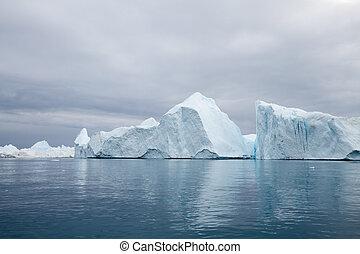 ilulissat, ijsbergen