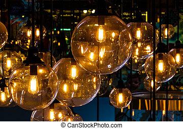 iluminación, decoración
