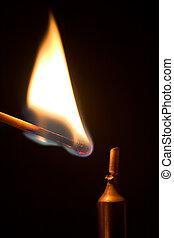 iluminación, un, candle.
